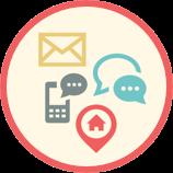Telefon, e-post og hjemmebesøk