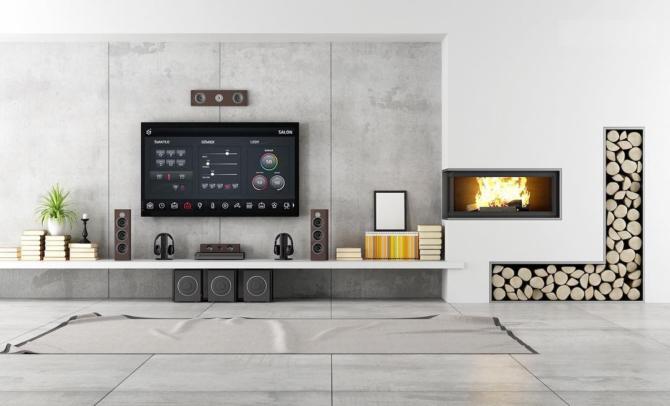 En smart TV i hemmet