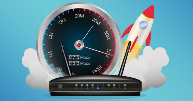 Rocket router speed