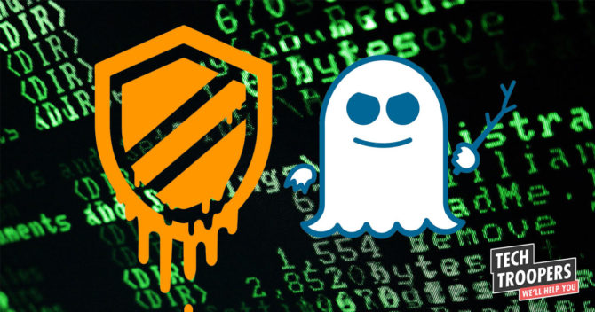 ikoner av attackerna Meltdown och Spectre