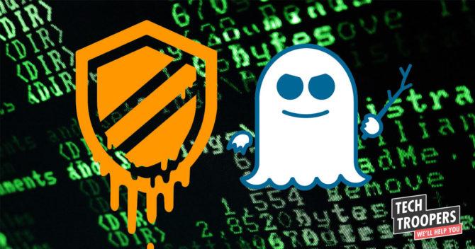 ikoner av attackerna Meltdown och Spectre