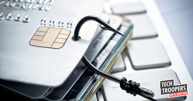 Credit cards with fish-hook through