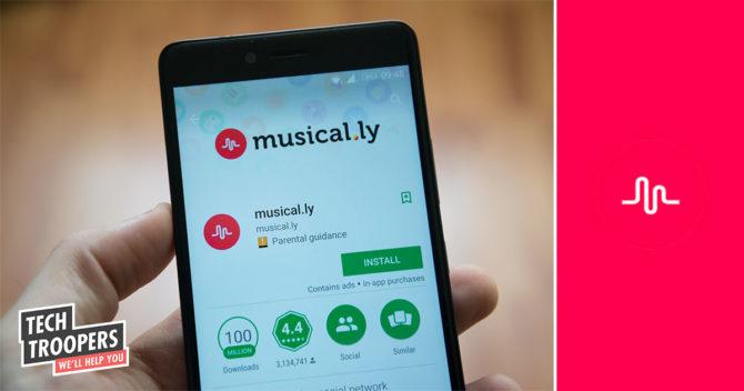 Hand holding smartphone musical app