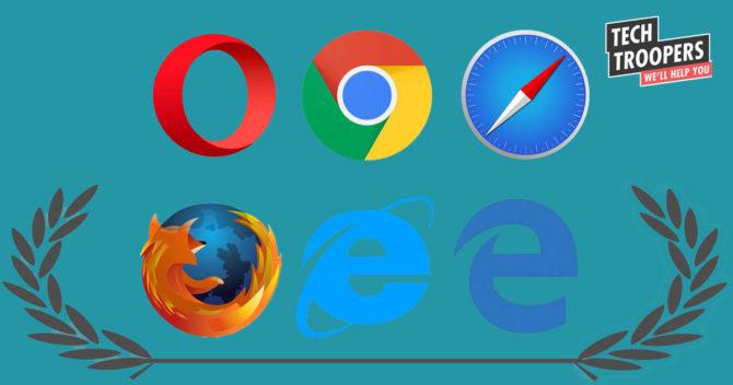 Webbläsare ikoner