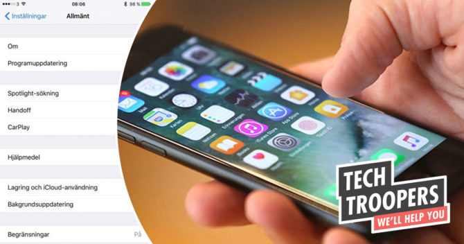 Uppdatera dina operatörsinställningar på iPhone eller iPad