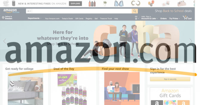 amazon screenshot and logo