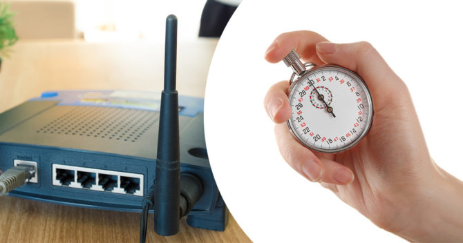 Router & handheld stopwatch