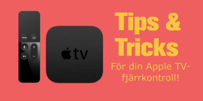 BIld på Apple TV-fjärrkontroll och tips och tricks