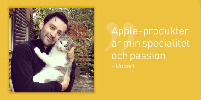 Bild på Tech Trooper Robert som håller i en katt