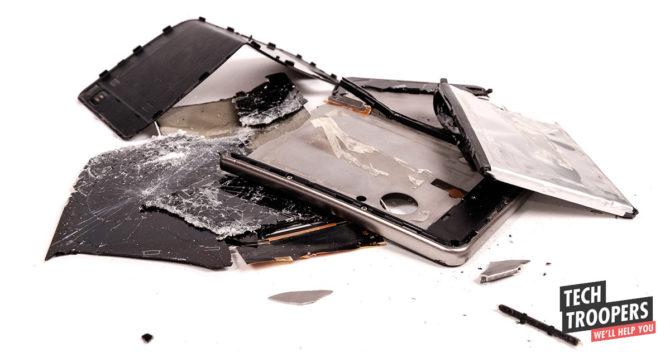 smartphone smashed