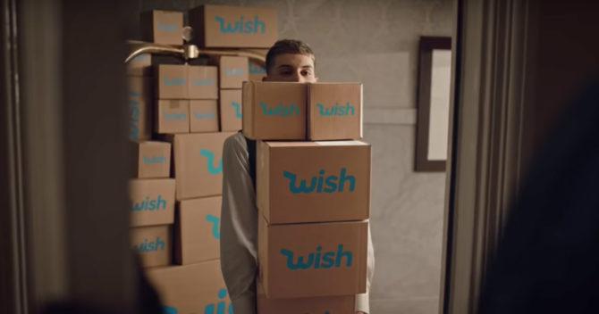 delivery man with boxes from wish.com