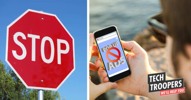 stop sign and smartphone