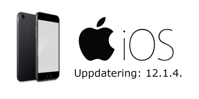 iOS uppdatering 12.1.4.